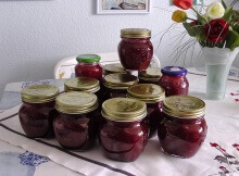 rhubarb strawbery jam