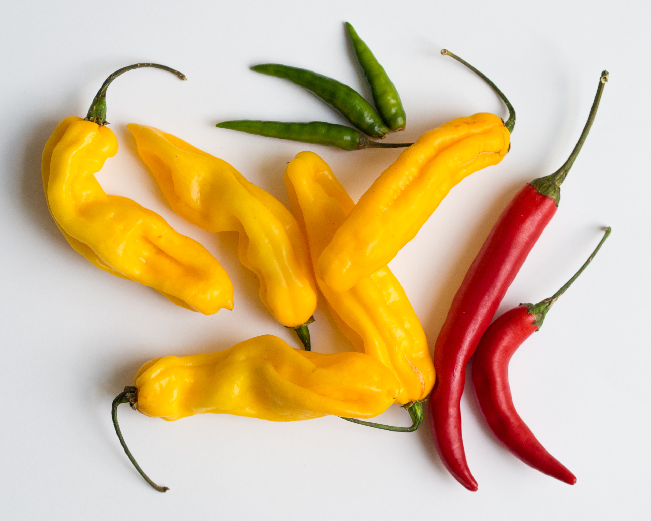 Sweet Banana and Cayenne Peppers